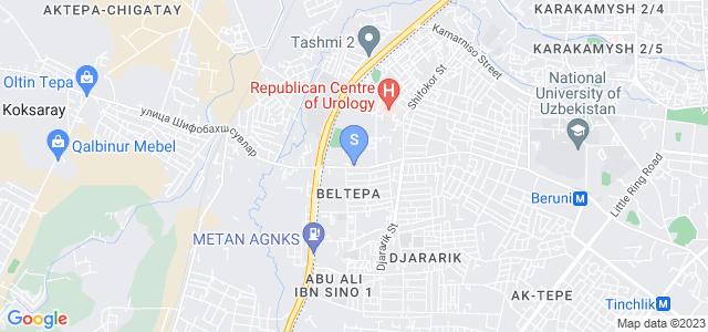 Location of Al-Farobiy on map