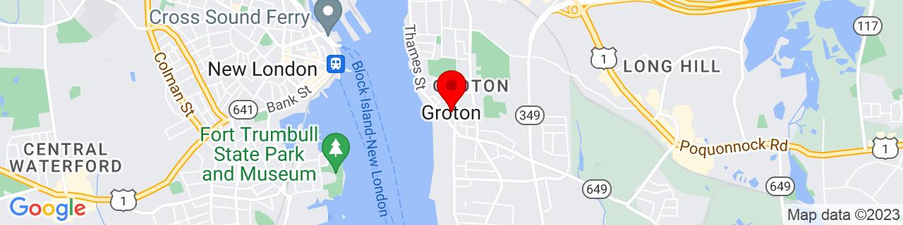 Google Map of 41.3497456, -72.0790717