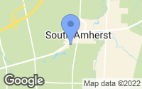 Map of South Amherst, OH