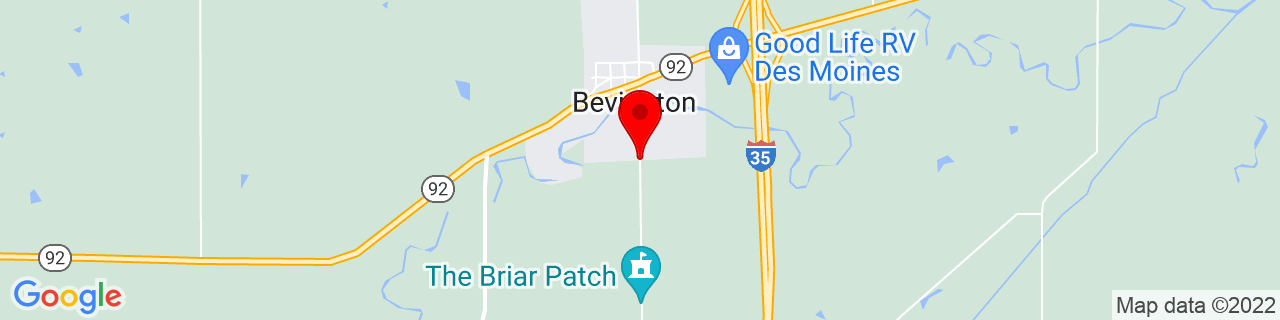 Google Map of 41.3554477, -93.790281