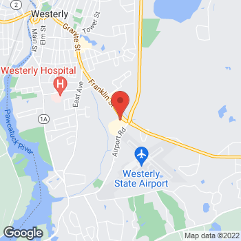Map of Hair Cuttery at 143 Fanklin Street, Westerly, RI 02891