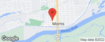 Map of 118 W Main St in Morris