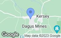 Map of Kersey, PA