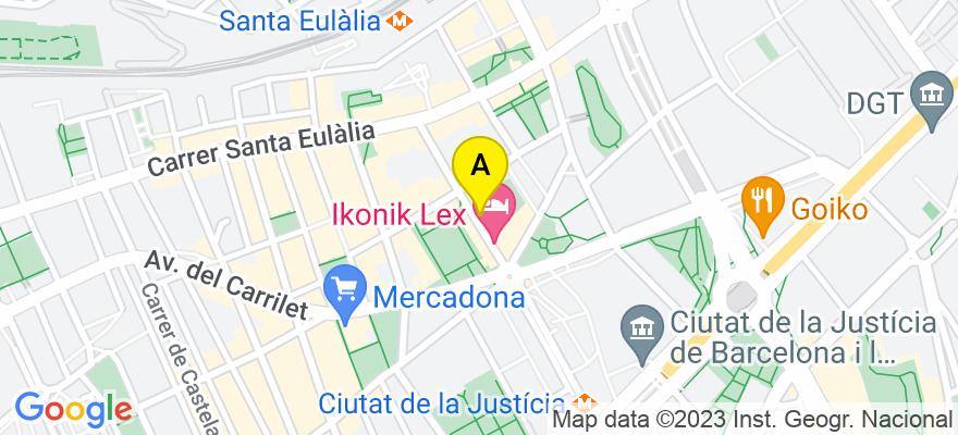 situacion en el mapa de . Direccion: Calle Buenos Aires 37, 08902 L'Hospitalet de Llobregat. Barcelona