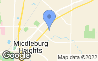 Map of Middleburg Heights, OH