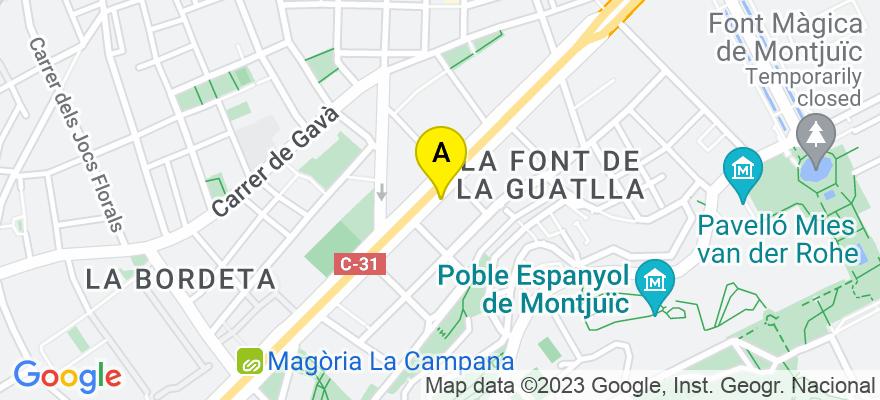 situacion en el mapa de . Direccion: GRAN VIA DE LES CORTS C. 617 PRAL., 08007 Barcelona. Barcelona