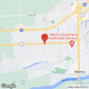 Map of Arby's at 1435 Commons Dr, Morris, IL 60450