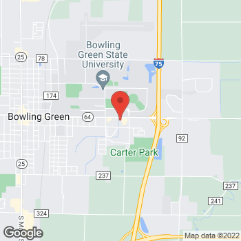 Map of Panera Bread at 1540 E Wooster Street, Bowling Green, OH 43402