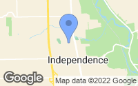 Map of Independence, OH