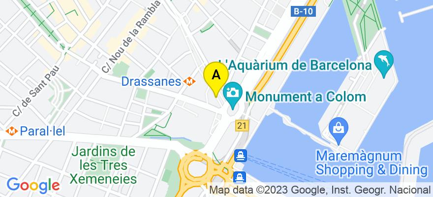 situacion en el mapa de . Direccion: Rambla de Cataluña nº 85, 1-2, 08008 Barcelona. Barcelona