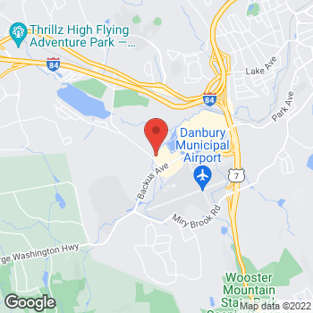 Map of Guitar Center at 15 Backus Ave, Danbury, CT 06810