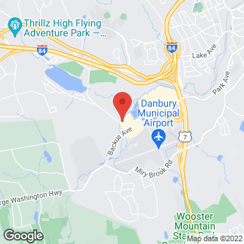 Map of Guitar Center Lessons at 15 Backus Ave, Danbury, CT 06810