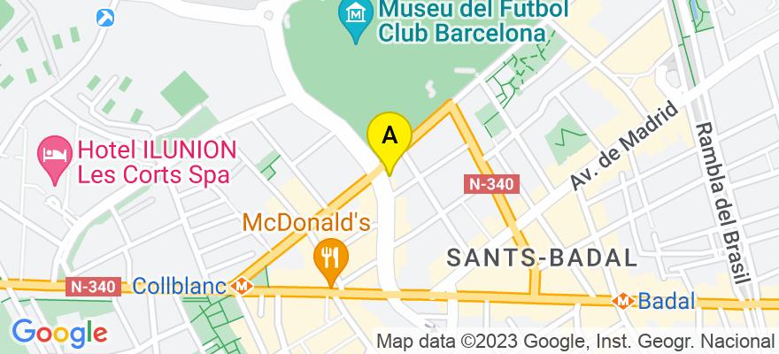 situacion en el mapa de . Direccion: Riera Blanca N 39 4/3, 08028 Barcelona. Barcelona