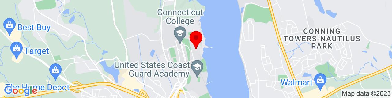 Google Map of 41.3785637, -72.0998516