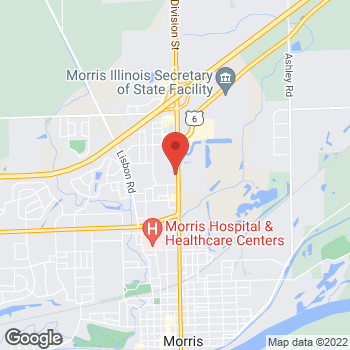 Map of Taco Bell at 1820 N Division St, Morris, IL 60450