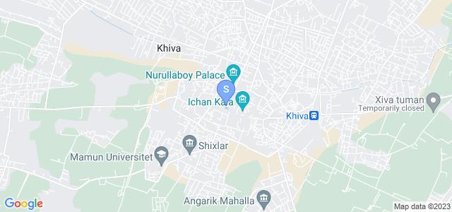 Расположение гостиницы Малика на карте