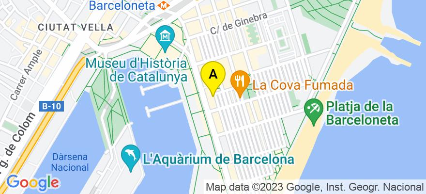situacion en el mapa de . Direccion: Carrer del mar 52, 2, 08003 Barcelona. Barcelona