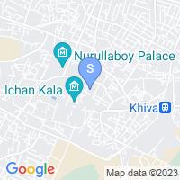 Расположение гостиницы Исламбек Хива на карте
