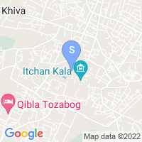 Location of Old Khiva on map