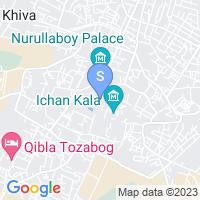 Расположение гостиницы Олд Хива на карте