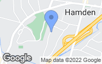 Map of Hamden, CT
