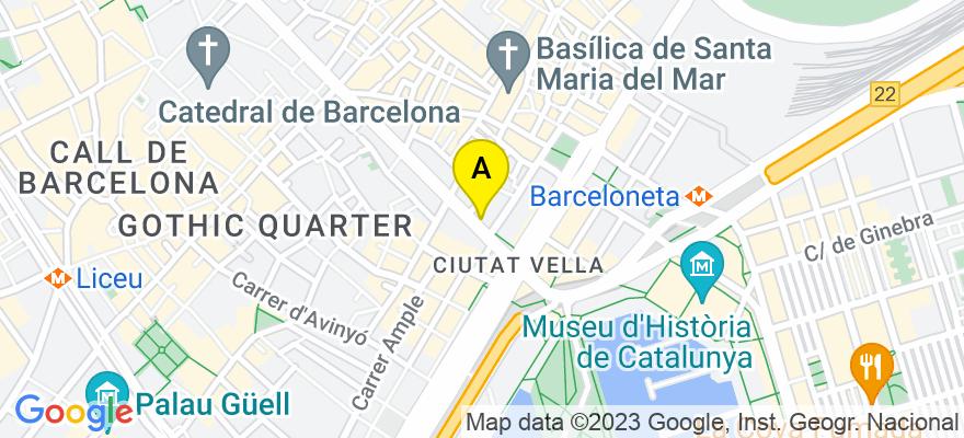 situacion en el mapa de . Direccion: Vía Layetana, 45, 08003 Barcelona. Barcelona