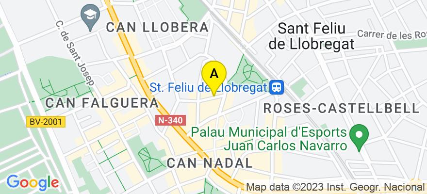 situacion en el mapa de . Direccion: Calle dalt, 6, 08980 Sant Feliu de Llobregat. Barcelona