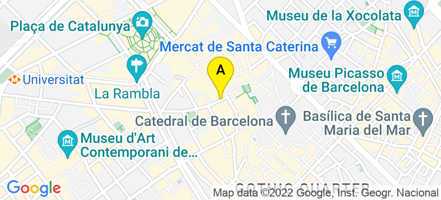 situacion en el mapa de . Direccion: Calle Pedro Ximenez, 12, 1º 2º, 08009 Barcelona. Barcelona