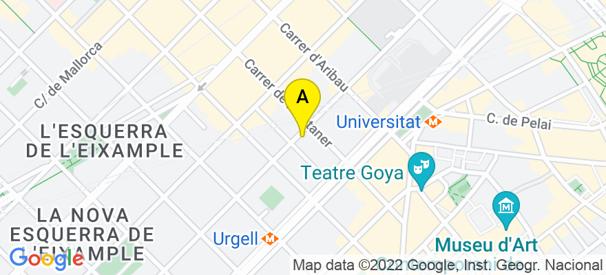 situacion en el mapa de . Direccion: Diputació 188, 7º 90, 08011 Barcelona. Barcelona
