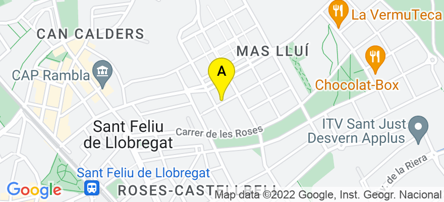 situacion en el mapa de . Direccion: C/ Esteli 9, 08980 Sant Feliu de Llobregat. Barcelona