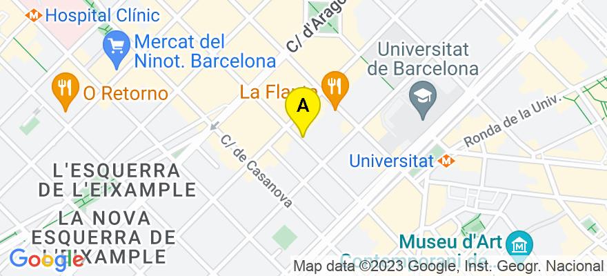 situacion en el mapa de . Direccion: Carrer Muntaner, 48-50 6º 3ª, 08011 Barcelona. Barcelona