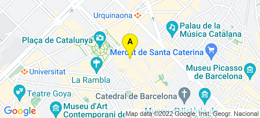 situacion en el mapa de . Direccion: Av. Portal del Angel 36, 08002 Barcelona. Barcelona