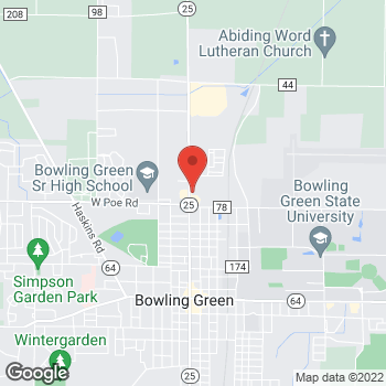 Map of Arby's at 1024 N Main St, Bowling Green, OH 43402-1301