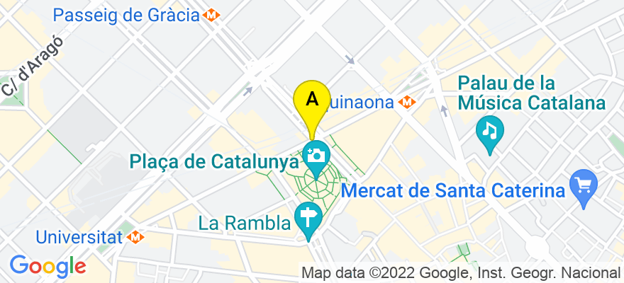 situacion en el mapa de . Direccion: Consell de Cent, 413-415, 08009 Barcelona. Barcelona