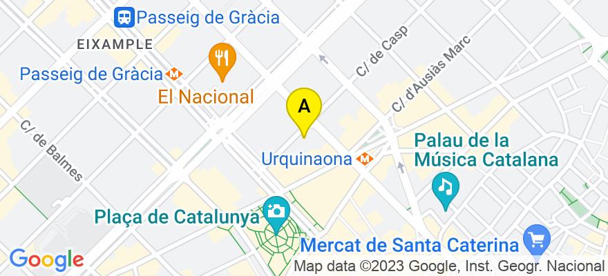 situacion en el mapa de . Direccion: Calle Caspe, nº 22, 3º 1ª, 08010 Barcelona. Barcelona