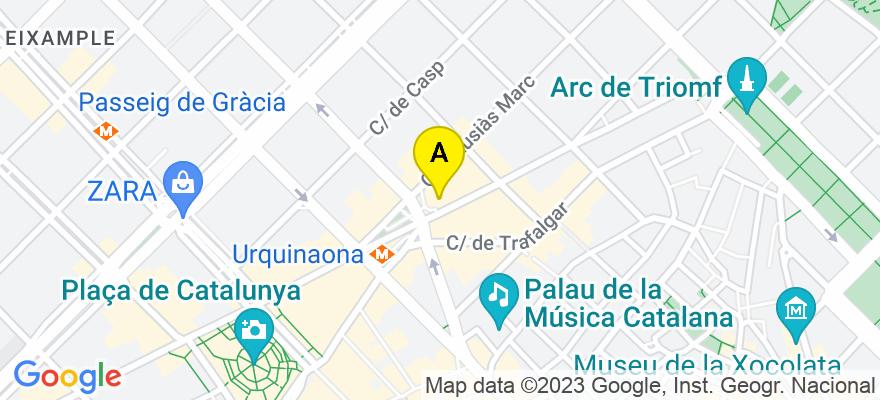 situacion en el mapa de . Direccion: Ronda Sant Pere nº 19-21 6º 1ª, 08010 Barcelona. Barcelona