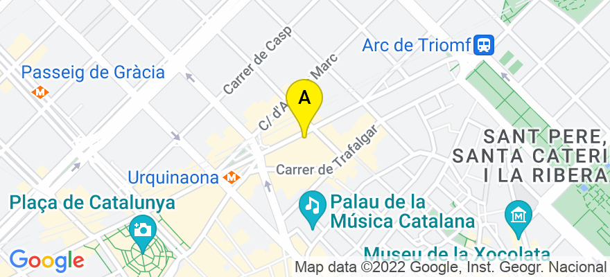situacion en el mapa de . Direccion: Ronda Sant Pere, 50, Pral. 1ª, 08010 Barcelona. Barcelona