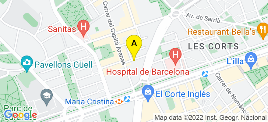 situacion en el mapa de . Direccion: C/ manila 60, 08034 Barcelona. Barcelona