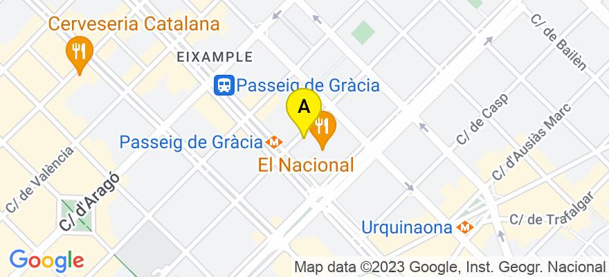 situacion en el mapa de . Direccion: Diputación, 260 5º, 08007 Barcelona. Barcelona