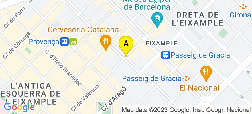 situacion en el mapa de . Direccion: Rambla de Catalunya, 08007 Barcelona. Barcelona