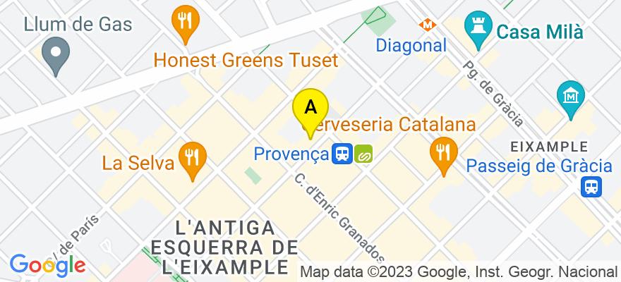 situacion en el mapa de . Direccion: C/ciutat n10, 08002 Barcelona. Barcelona