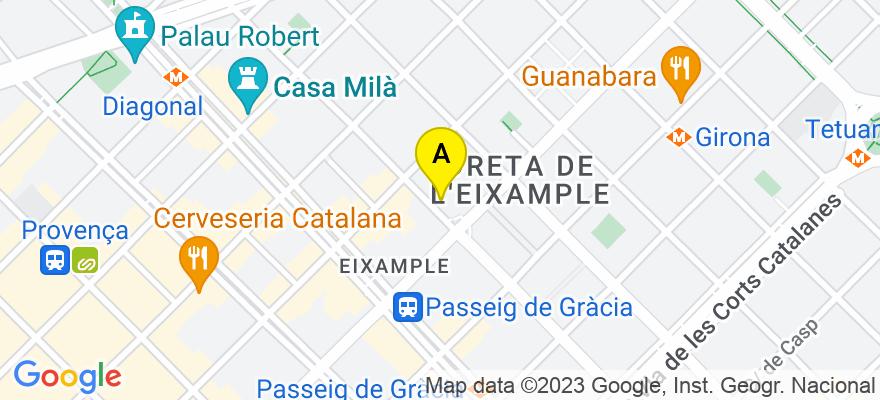 situacion en el mapa de . Direccion: C. Pau Claris 138, 1º 4ª, 08009 Barcelona. Barcelona