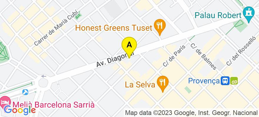 situacion en el mapa de . Direccion: Avda. Diagonal, 435 5º 2ª, 08036 Barcelona. Barcelona