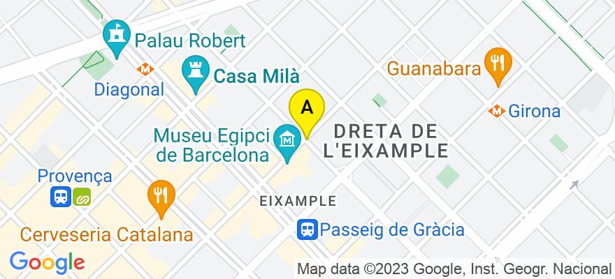 situacion en el mapa de . Direccion: PAU CLARIS 148 EN 2, 08009 Barcelona. Barcelona