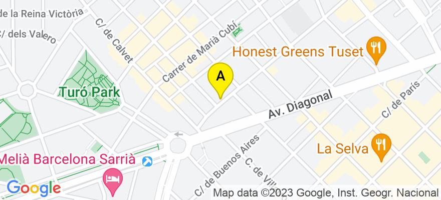 situacion en el mapa de . Direccion: Travessera de gràcia 15, 4º 3ª, 08021 Barcelona. Barcelona