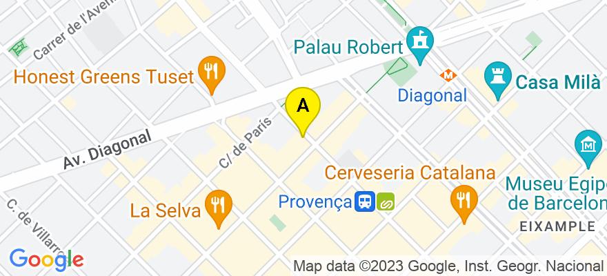 situacion en el mapa de . Direccion: Balmes  151  2º, 08008 Barcelona. Barcelona