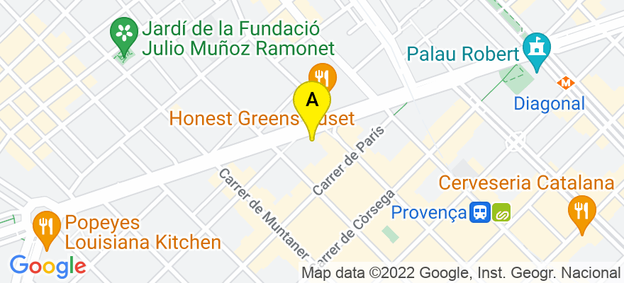 situacion en el mapa de . Direccion: Avda. Diagonal, 429, 08036 Barcelona. Barcelona