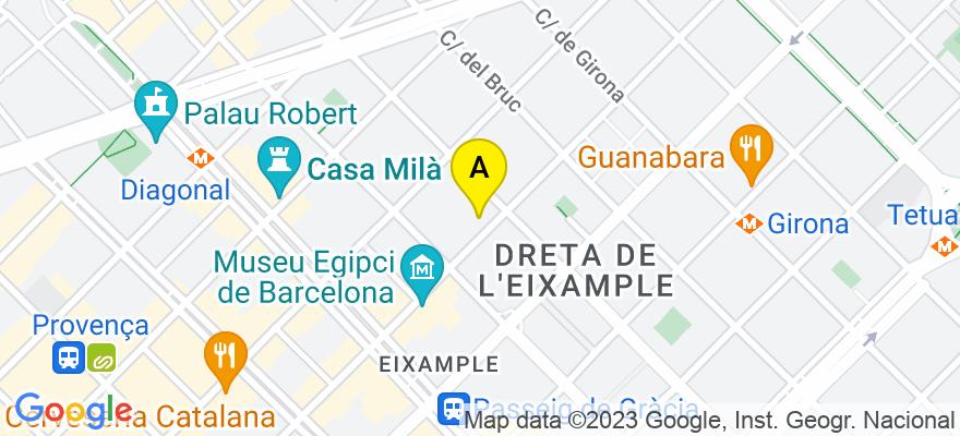 situacion en el mapa de . Direccion: Calle Valencia 281, 2-2, 08009 Barcelona. Barcelona