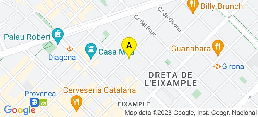 situacion en el mapa de . Direccion: C/ Mallorca 274 9º 9ª, 08037 Barcelona. Barcelona