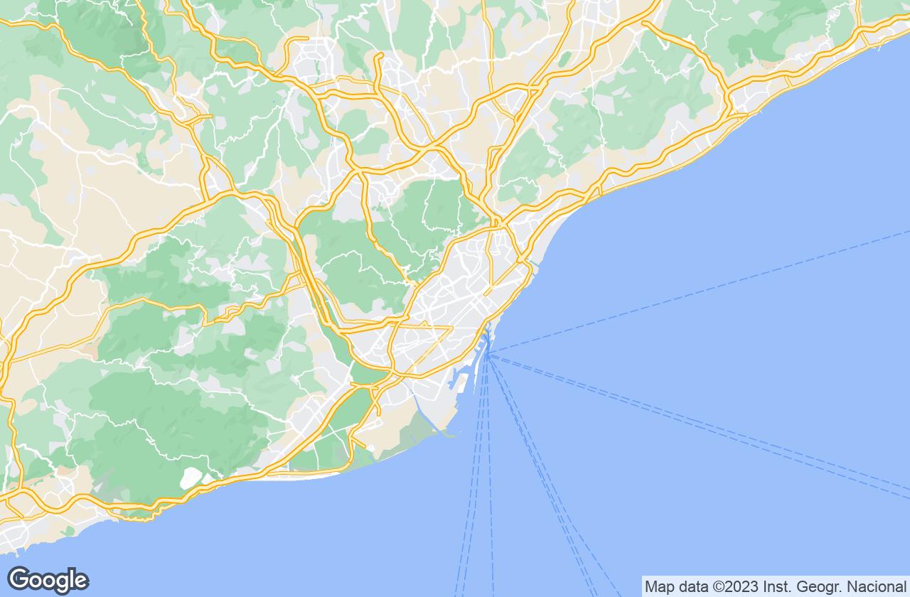 Google Map of برشلونة